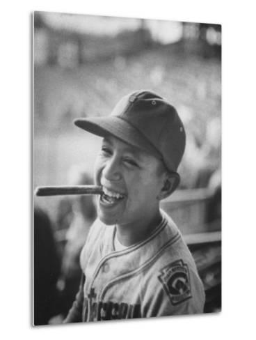 Mexico Little League Team Member after Winning the Championship Game--Metal Print