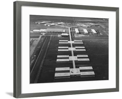 New Prison Buildings at the Louisiana State Penitentiary at Angola--Framed Art Print