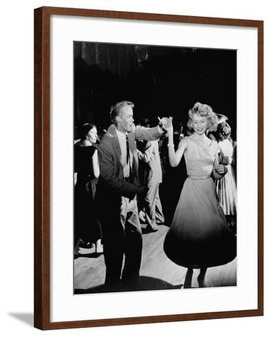 Teen Couples Swing Dancing at the Totem Pole--Framed Art Print