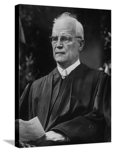 Supreme Court Justice Harold H. Burton Attending Commencement Ceremony at William and Mary College--Stretched Canvas Print