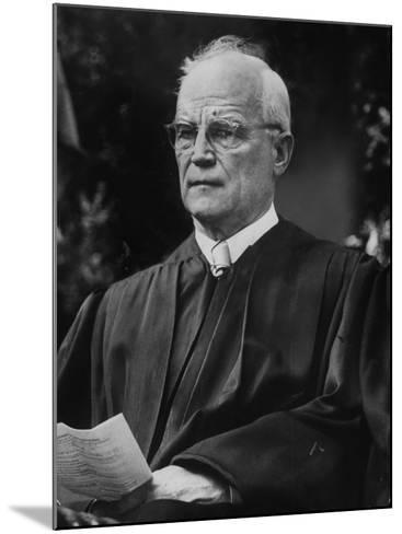 Supreme Court Justice Harold H. Burton Attending Commencement Ceremony at William and Mary College--Mounted Photographic Print