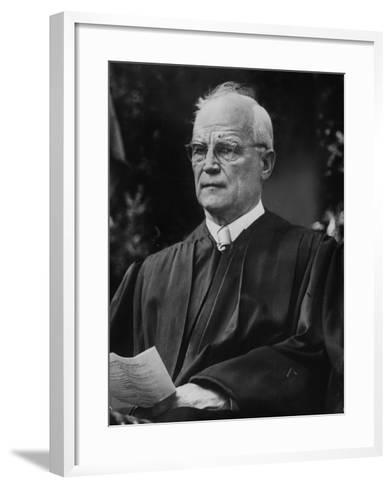 Supreme Court Justice Harold H. Burton Attending Commencement Ceremony at William and Mary College--Framed Art Print