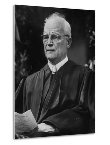 Supreme Court Justice Harold H. Burton Attending Commencement Ceremony at William and Mary College--Metal Print