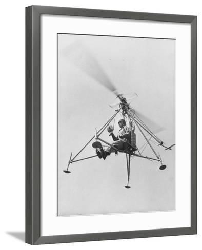 """The """"Pinwhell', Is a 1 Man Helicopter-Allan Grant-Framed Art Print"""