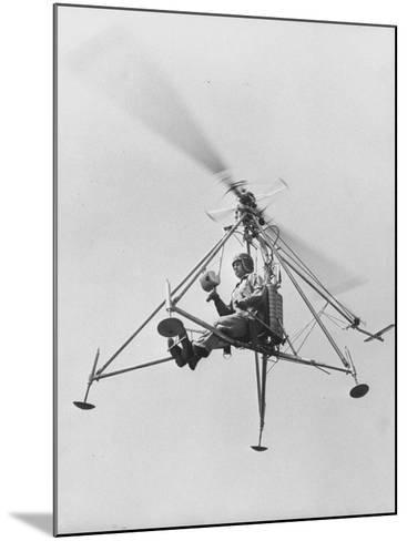 """The """"Pinwhell', Is a 1 Man Helicopter-Allan Grant-Mounted Photographic Print"""