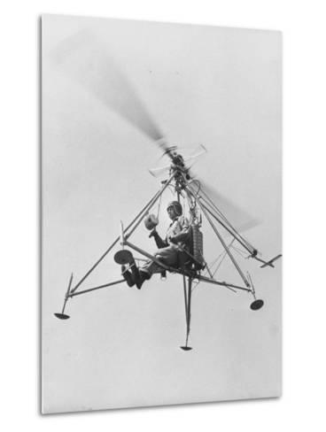 """The """"Pinwhell', Is a 1 Man Helicopter-Allan Grant-Metal Print"""