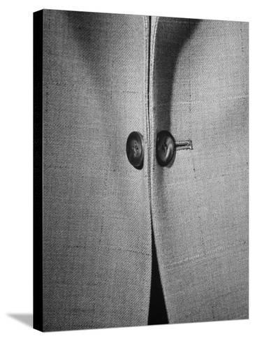 High Style in Men's Fashions, Extreme Styles for Men of College Age, Showing Link Buttons-Nina Leen-Stretched Canvas Print
