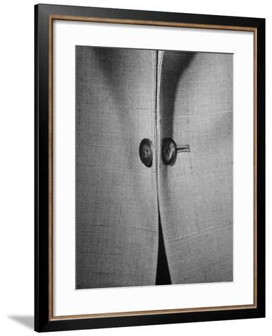 High Style in Men's Fashions, Extreme Styles for Men of College Age, Showing Link Buttons-Nina Leen-Framed Art Print