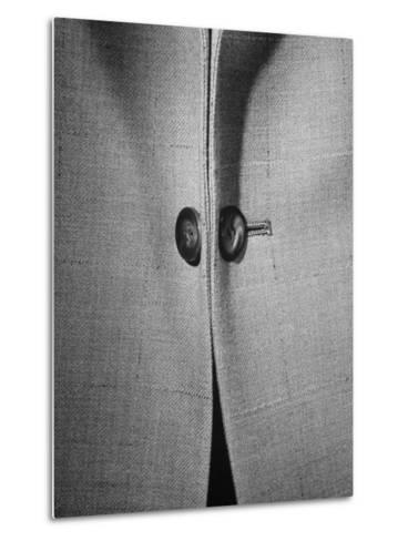 High Style in Men's Fashions, Extreme Styles for Men of College Age, Showing Link Buttons-Nina Leen-Metal Print