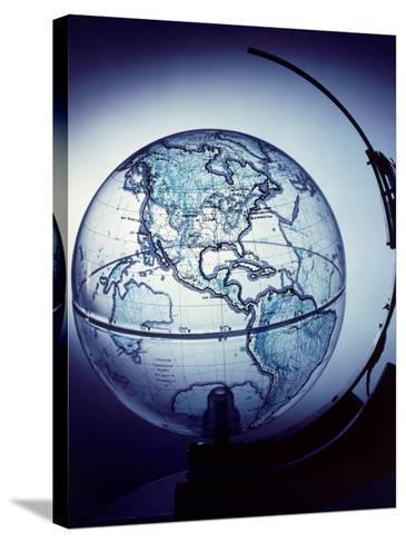 Globe Built by Robert H. Farquhar to Trace Orbit of Sputnik I-Dmitri Kessel-Stretched Canvas Print