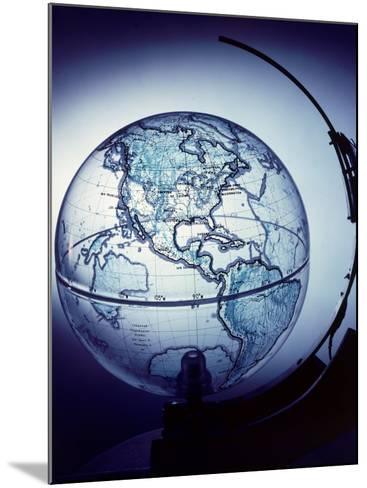 Globe Built by Robert H. Farquhar to Trace Orbit of Sputnik I-Dmitri Kessel-Mounted Photographic Print