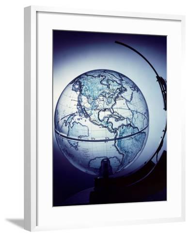 Globe Built by Robert H. Farquhar to Trace Orbit of Sputnik I-Dmitri Kessel-Framed Art Print
