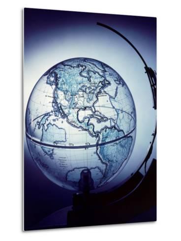 Globe Built by Robert H. Farquhar to Trace Orbit of Sputnik I-Dmitri Kessel-Metal Print