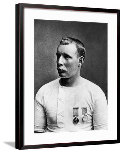 Champion English Swimmer Matthew Webb--Framed Art Print