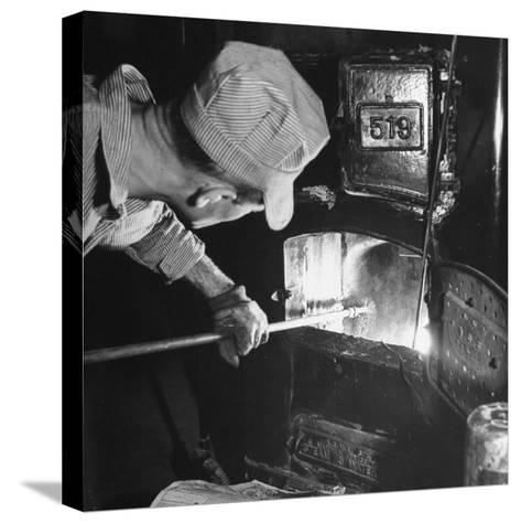 Furnace Conversion from Oil to Coal--Stretched Canvas Print