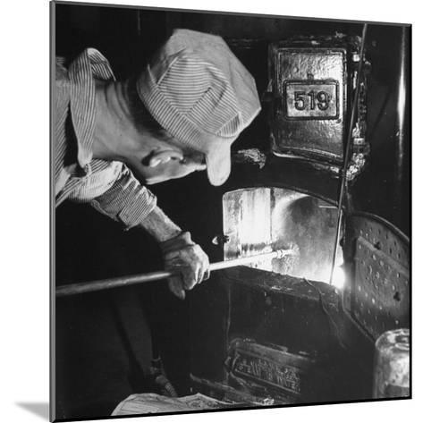 Furnace Conversion from Oil to Coal--Mounted Photographic Print