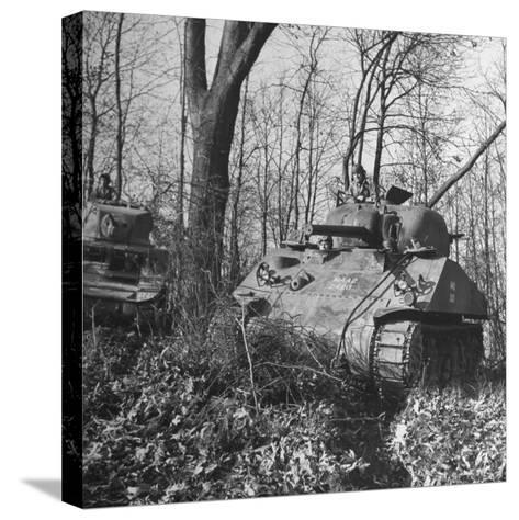 M4A2 Tanks Tested at Alberdeen Proving Ground-Bernard Hoffman-Stretched Canvas Print