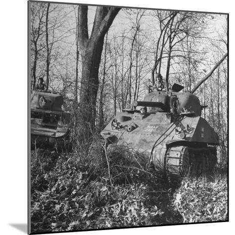 M4A2 Tanks Tested at Alberdeen Proving Ground-Bernard Hoffman-Mounted Photographic Print