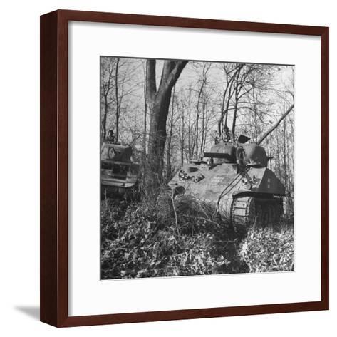 M4A2 Tanks Tested at Alberdeen Proving Ground-Bernard Hoffman-Framed Art Print