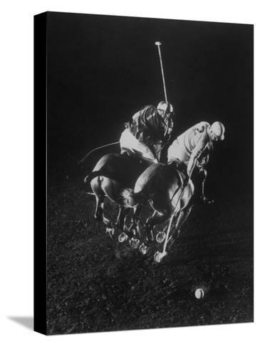 Indoor Polo at the Armory-Gjon Mili-Stretched Canvas Print