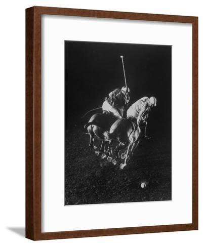 Indoor Polo at the Armory-Gjon Mili-Framed Art Print