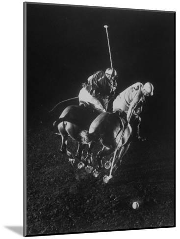 Indoor Polo at the Armory-Gjon Mili-Mounted Photographic Print