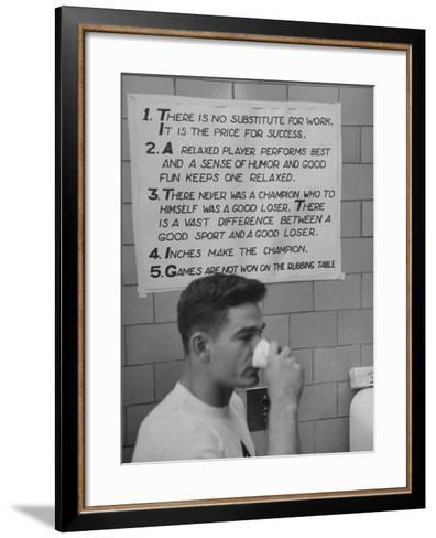 Fullback Gil Stephenson, Standing under the Army's Football Code--Framed Art Print