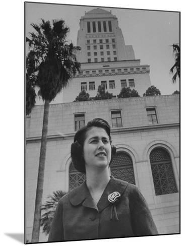 Los Angeles City Council Woman Mrs. Rosalind Wyman--Mounted Premium Photographic Print
