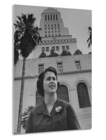 Los Angeles City Council Woman Mrs. Rosalind Wyman--Metal Print