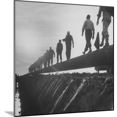 Men Laying Pipeline--Mounted Photographic Print