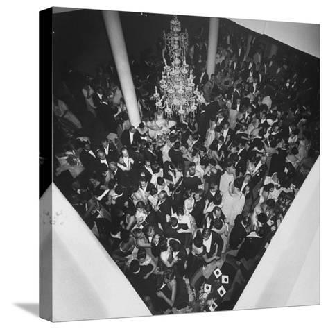 People Dancing at a Party for the Manizales Fair--Stretched Canvas Print