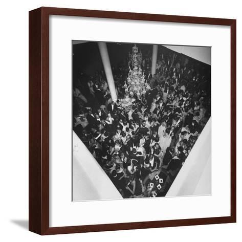 People Dancing at a Party for the Manizales Fair--Framed Art Print