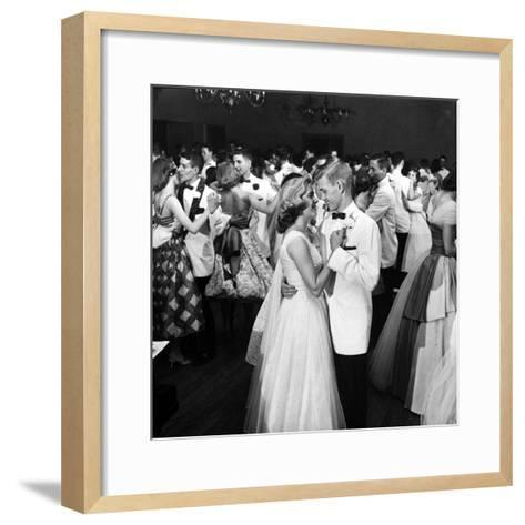 Students Dancing at the Mariemont High School Prom--Framed Art Print