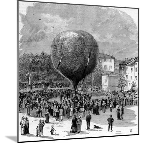 Ascent of Leon Montgolfier in Hot Air Balloon--Mounted Photographic Print