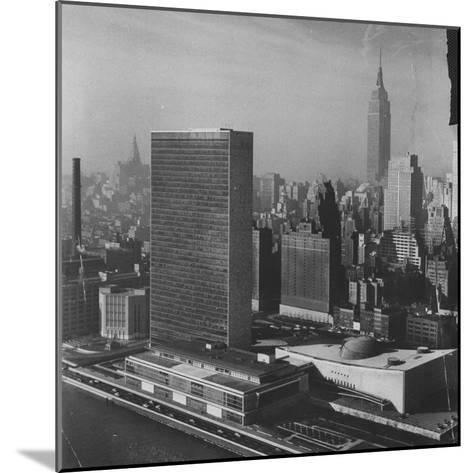 Sky Shot of the Un Headquaters and the Empire State Building-Dmitri Kessel-Mounted Photographic Print