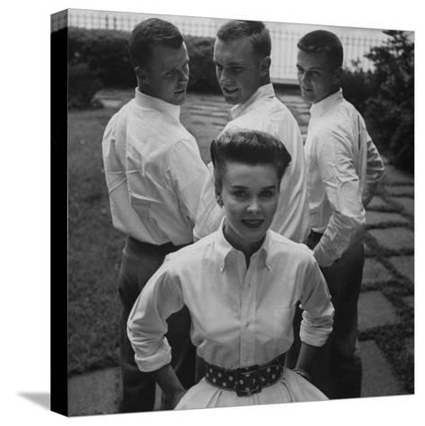 """Picture of an Woman with a """"Butch Haircut""""-Nina Leen-Stretched Canvas Print"""