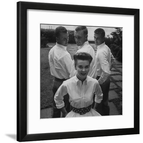 """Picture of an Woman with a """"Butch Haircut""""-Nina Leen-Framed Art Print"""
