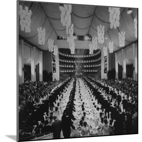 200 International Debutantes Dancing Polonaise at Opera Centennial Party--Mounted Photographic Print