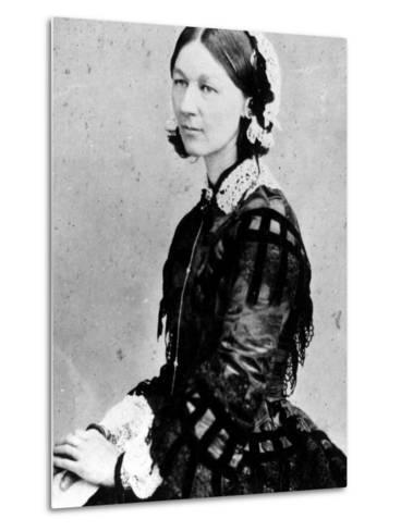 Portrait of Nurse Florence Nightingale--Metal Print