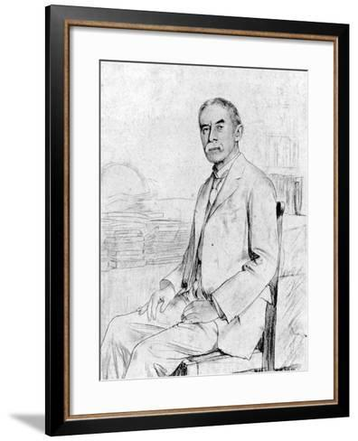 Drawing of English Scholar and Poet A. E. Housman--Framed Art Print