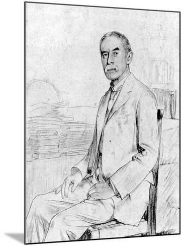 Drawing of English Scholar and Poet A. E. Housman--Mounted Premium Photographic Print