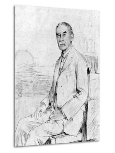 Drawing of English Scholar and Poet A. E. Housman--Metal Print