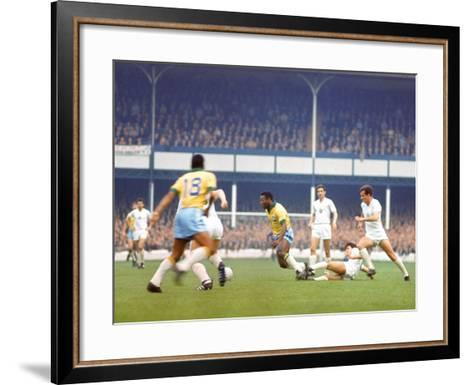 Soccer Star Pele in Action During World Cup Competition--Framed Art Print