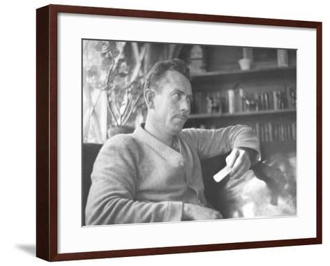 Author John Steinbeck-Peter Stackpole-Framed Art Print