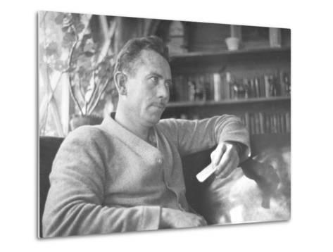 Author John Steinbeck-Peter Stackpole-Metal Print
