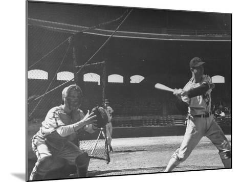 Shortstop Luke Appling at Bat--Mounted Premium Photographic Print
