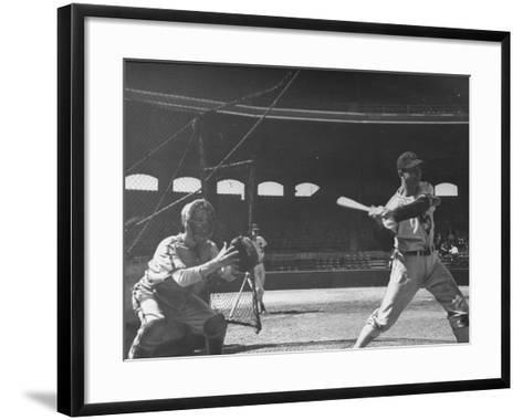 Shortstop Luke Appling at Bat--Framed Art Print