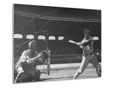 Shortstop Luke Appling at Bat--Metal Print