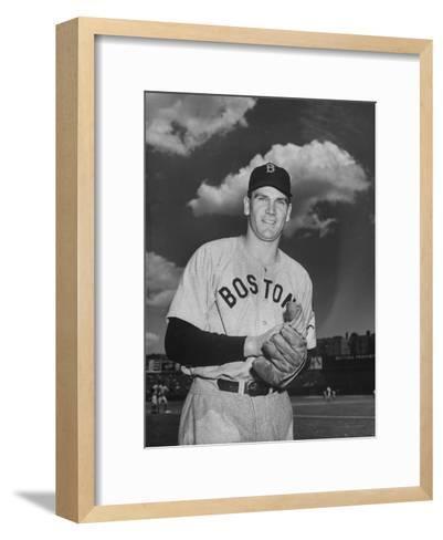 Red Sox Player Dave Ferriss Posing with Glove in His Hands-Bernard Hoffman-Framed Art Print