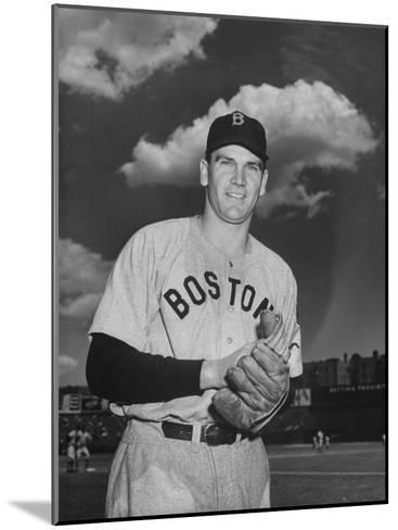 Red Sox Player Dave Ferriss Posing with Glove in His Hands-Bernard Hoffman-Mounted Premium Photographic Print
